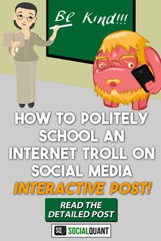 We've all had friends who disconnect on social media instead of having a friendly conversation. Let's work together to help school internet trolls.