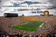 The time has come for my last season of Notre Dame football! Notre Dame Football, Nd Football, College Football, Irish Fans, Go Irish, Noter Dame, Notre Dame Irish, Lou Holtz, Fighting Irish