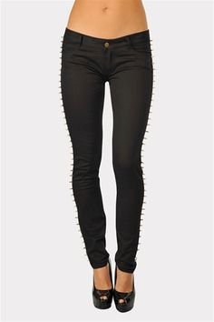 Spike Lined Skinnies - Black from Necessary Clothing  http://www.studentrate.com/StudentRate/fashion/fashion.aspx