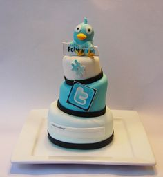 Twitter Addict 3 Tier mini cake by cupcakeenvy, via Flickr