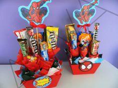 Centros de mesa para fiesta de Spiderman