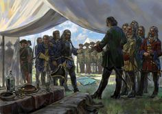 Tsar Peter the Great receiving the Swedish delegates, Great Northern War