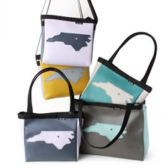 Meet our Aerial / NC family! Swing by Stitch or shop them online. #hollyaikenbags #northcarolina #home