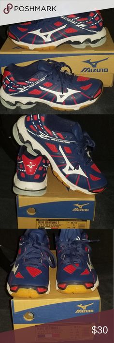 mizuno womens volleyball shoes size 8 x 4 hs measure uniform