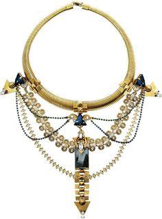 ERICKSON BEAMON Alchemy Gold-Plated Swarovski Crystal Necklace - Lyst