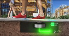 Vegas Powers Lights With Its Most Abundant Resources. Las Vegas is powering its smart streetlights using the sun and human footsteps. Las Vegas, Alternative Power Sources, Vegas Lights, Kinetic Energy, Electrical Energy, Spy Camera, Energy Use, Home Security Systems, Pedestrian