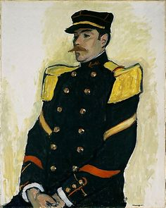 """ronulicny:  """"Sergeant Of The Colonial Regiment"""", 1907 By: ALBERT MARQUET…."""