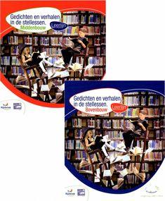 'Gedichten en verhalen in de stellessen' is een doorgaande lijn voor groep 5 t/m 8 waarin passieve taal (receptief: lezen), actieve taal (productief: creatie...