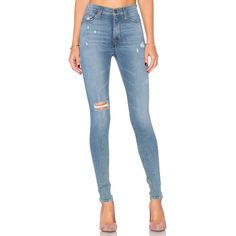 Hudson Jeans Barbara High Waist Skinny (2.865.540 IDR) ❤ liked on Polyvore featuring jeans, pants, ripped jeans, blue ripped skinny jeans, frayed skinny jeans, high waisted ripped skinny jeans and ripped skinny jeans