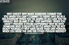 Why cheat?!