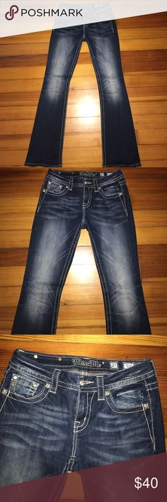 Miss Me Jeans Miss Me Jeans. Great condition. Size 27 mid-rise boot cut Miss Me Jeans Boot Cut