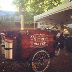 @nitro_coffee on tap via the #nitrobike at the @wickerpark_farmersmarket. Anyone else interested...? @lsfarmersmarket @greencitymarket