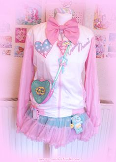 Peachie, A fairy-kei coord I made today for fun. ^^ <3...