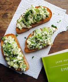 Broad Bean and Feta Bruschetta, I have a lot of broad beans in my garden so I must try this