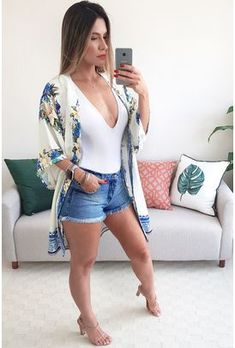 Bar Outfits, Summer Outfits, Casual Outfits, Cute Outfits, Young Fashion, Look Fashion, Fashion Outfits, Womens Fashion, Look Con Short