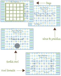 Blue and Green Baby Shower Games