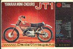 1971 Yamaha Mini-Enduro JT1 – original, vintage brochure,,, I remember the brochure, I looked at it for a whole year, while I saved the money to buy the bike...