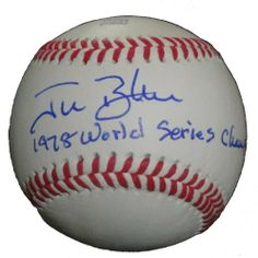 """New York Yankees Jim Beattie Autographed ROLB Baseball Featuring """"1978 World Series Champions"""" Inscription! Proof Photo by Southwestconnection-Memorabilia. $54.99. This is a Jim Beattie autographed Rawlings official league baseball with """"1978 World Series Champions"""" inscription! Jim signed the ball in blue ballpoint pen. Check out the photo of Jim signing for us. Proof photo is included for free with purchase. Please click on images to enlarge. 1"""
