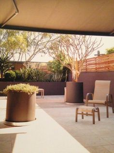 Extending awning over a courtyard provides a great space for outdoor entertaining Outdoor Awnings, Pergola Shade, Outdoor Entertaining, Venetian, Blinds, Shades, House Blinds, Curtains, Blind