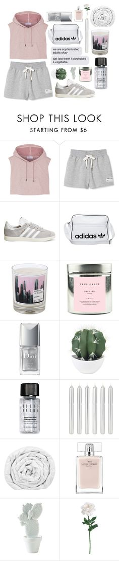 """We Could Go On All Night"" by stella-kara ❤ liked on Polyvore featuring adidas, adidas Originals, Maison La Bougie, True Grace, Christian Dior, Bobbi Brown Cosmetics, Brinkhaus, Narciso Rodriguez, BackToSchool and polyvorecommunity"