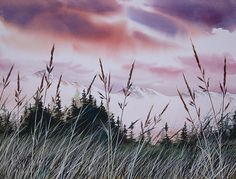 Sunset Landscape by James Williamson - Sunset Landscape Painting - Sunset Landscape Fine Art Prints and Posters for Sale