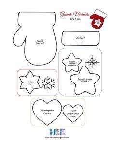 Christmas stocking, stars, snowflake