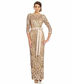 Tadashi 34 Sleeve SequinLace Gown #Dillards