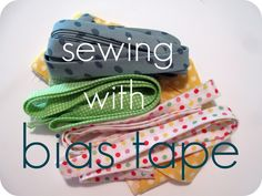 Photo tuts how to use bias tape. Tutorial and Tips: Sewing with Bias Tape - from Caila made Sewing Basics, Sewing Hacks, Sewing Tutorials, Sewing Patterns, Sewing Tips, Sewing Ideas, Sewing Essentials, Tutorial Sewing, Sewing Stitches