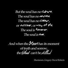 Perhaps my favourite piece in 'Shantaram'