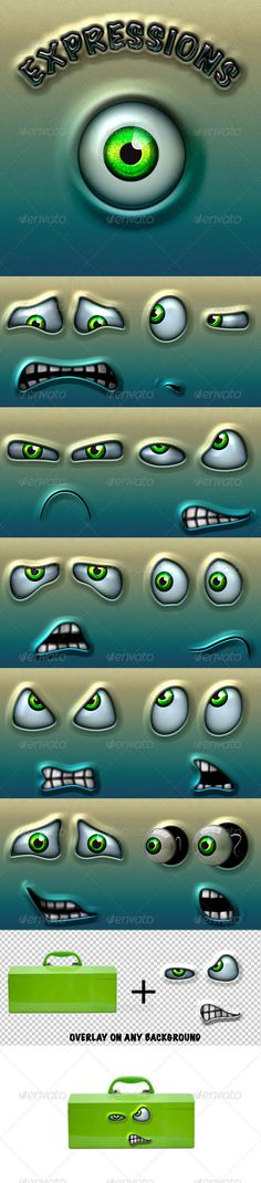 Character Expressions Pack 3 #GraphicRiver Here comes Character Expressions Pack 3! Ten high quality expressions. All made from scratch in photoshop. With this great pack of smiles you can liven up any object. This art has adjustable transparency and blend modes, so it can be overlay on any background. Clean design based on shapes and styles. Resolution: 2500×2500px / 300dpi WHAT'S INCLUDED: 11 Layered PSD files Doc file with instructions Check out Character Expressions Pack 1 Check out…