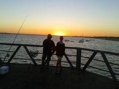 Esperando la noche y los peces.