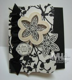Stampin UP black and white card
