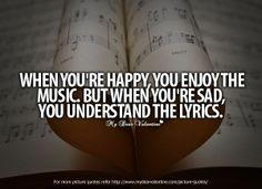 so true of music