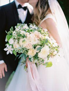 Beautiful wedding bouquet: http://www.stylemepretty.com/2017/04/28/classic-and-romantic-mountainside-wedding-among-the-vines/ Photography: Lauren Kinsey - https://www.laurenkinsey.com/