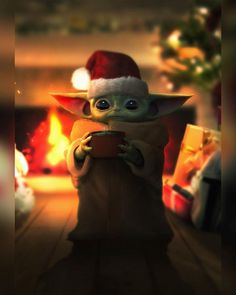 Xmas Wallpaper, Cute Christmas Wallpaper, Star Wars Wallpaper, Cute Disney Wallpaper, Cute Cartoon Wallpapers, Yoda Pictures, Yoda Images, Funny Pictures, Star Wars Fan Art