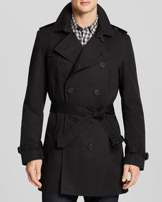 Double-breasted trench coat in cotton twillThe Kooples kGoLQUpmK