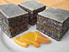 Narancsos bögrés mákos Hungarian Desserts, Hungarian Cake, Hungarian Recipes, Salty Snacks, Cake Bars, Sweet Cakes, Sweet And Salty, Homemade Cakes, Winter Food