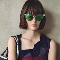 fendi cat-eye acetate Iridia sunglasses with Swarovski crystals and  mirrored lenses. Mirrored Sunglasses 62e3ce59dd