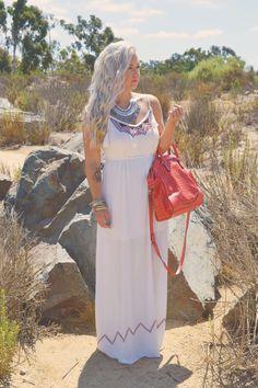 Alexsis Mae : White Maxi Dress