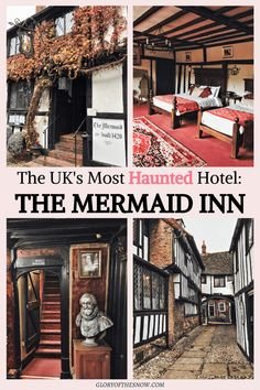 I spent the night at the most haunted hotel in the UK! Check out these bone-chilling ghost stories from the Mermaid Inn! Will you dare to stay the night? Haunted Hotel, Real Haunted Houses, Most Haunted, Haunted Places, Unique Hotels, Cheap Hotels, Amazing Hotels, Places To Travel, Amigurumi
