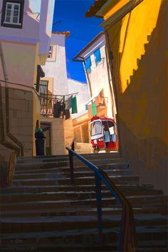 Lisboa #1, Mathias Zamęcki on ArtStation at https://www.artstation.com/artwork/1r3lZ
