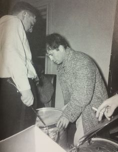 """Jack Kerouac takes over the drums, December 31, 1958."" From Beat Generation: Glory Days in Greenwich Village"