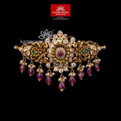 Vanki Designs Jewellery, Gold Mangalsutra Designs, Gold Jewellery Design, Beaded Choker Necklace, Beaded Jewelry, Gold Jewelry, Gold Necklace, Bridal Jewelry, Necklaces