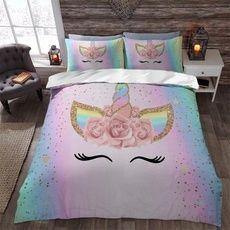 Bed For Girls Room, Little Girl Rooms, Girls Bedroom, Bedrooms, Girl Bedroom Designs, Bedroom Themes, Bedroom Ideas, Bed Sets, Unicorn Bedroom Decor