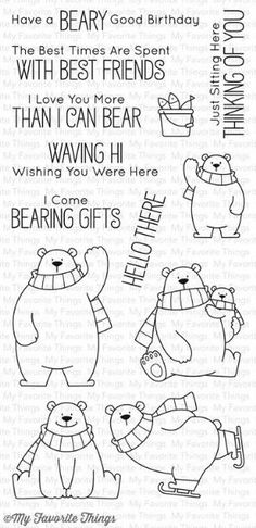 *NEW* My Favorite Things Stamps - Polar Bear Pals