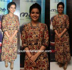 Swathi Reddy in a kalamkari maxi dress