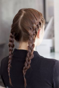 You Totally Got This: 4 Easy Braids For Rookies #refinery29 http://www.refinery29.com/26384#slide28 Step 8: You should now have two French-braided pigtails.