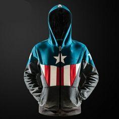 Cosplay Captain America hoodie for teens gray The Avengers sweatshirt