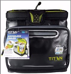 The Zipperless Cooler by Arctic Zone Titan (Black). For product info go to:  https://all4hiking.com/products/the-zipperless-cooler-by-arctic-zone-titan-black/