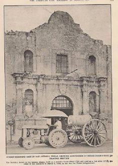 Street cleaning in front of the Alamo, 1926.  Recuerden El Alamo!  http://www.pinterest.com/pin/560416747351183349/